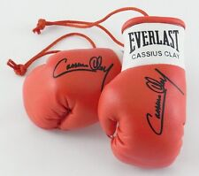 Autographed Mini Boxing Gloves Cassius Clay