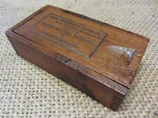 Vintage Morse Drill & Machine Co Wooden Box   Crate Antique Old Soap Boxes 8520