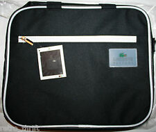 "Lacoste Parfums Black Laptop Bag GWP Canvas 14"" Wide 12"" Tall"
