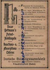 FRIEDRICHSFELD, Werbung / Anzeige 1902, Deutsche Steinzeugwaaren-Fabrik