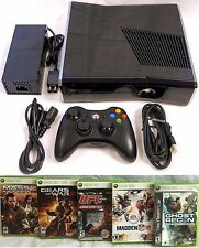 Microsoft XBOX 360 S Slim 32gb Console Bundle System + 5 Games UFC Mass Effect 2