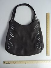 Women's LaTique Pewter Grey Tote Bag Purse Style Ladies Rhinestone