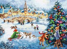 """Dimensions Gold Counted Cross Stitch kit 16"""" x 12"""" WINTER CELEBRATION #70-08919"""