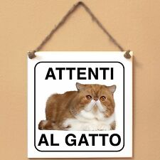 Exotic Shorthair 3 Attenti al gatto Targa gatto cartello ceramic tiles