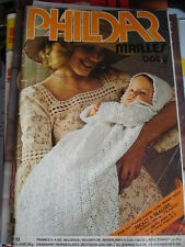 LIVRE TRICOT/CATALOGUE Phildar/Mailles Baby N°33 Son Premier Trousseau -V.photos