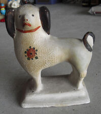 "Unique Vintage 1930s Ceramic Folk Art Dog Statue 7"" Tall"
