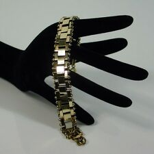 ART DECO MACHINE AGE Jakob BENGEL BRICK WORK BRACELET BRASS 1930s