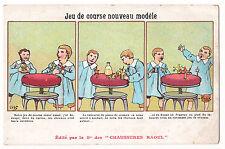 CPA ILLUSTRATEUR MONNIER - JEU DE COURSE DE CHEVAUX - CHAUSSURES RAOUL PUBLICITE