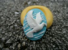 White Dove cameo silicone push mold mould polymer clay resin sugar craft