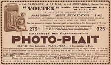 Y7087 PHOTO-PLAIT - Appareil Voltex - Pubblicità d'epoca - 1934 Old advertising