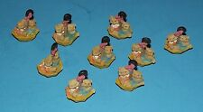 "Set of 8  Miniature Umbrellas with Bear Figures Sitting in Them 1""  Animals"