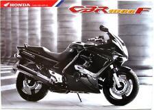 HONDA CBR 1000 F - Motorcycle Sales Brochure - Oct 1998 - #6P-10.98-E-CBR1000F