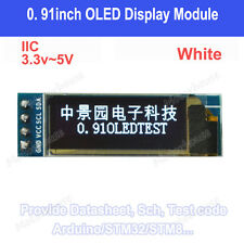 "IIC I2C 0.91""128x32 white OLED LCD Display Screen 3.3v 5v AVR PIC Arduino uno r3"