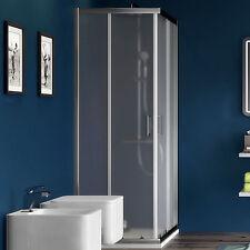 Box doccia angolare 120x80 in cristallo con profilo in alluminio cromato offerta