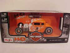 Ford Model A Hot Rod Roadster 1929 Diecast 1:24 by Harley Davidson 7 inch Flames