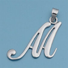 USA Seller Initial Pendant Sterling Silver 925 Best Deal Plain Jewelry Letter M