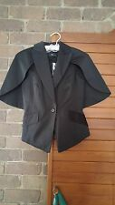 CUE black half cape jacket blazer sz 8 $329