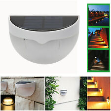 Waterproof 6 LED Solar Power Sensor Wall Light Outdoor Garden Fence Light