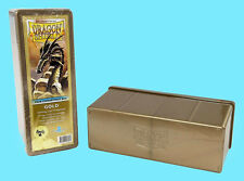 DRAGON SHIELD 4 COMPARTMENT GOLD CARD STORAGE BOX NEW Sealed Gaming Deck Case