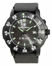 Smith & Wesson S.W.A.T. Watch-Black Face w/date-Back Glow for night 4318 Rothco