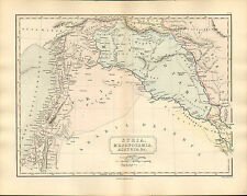 antient geography map by samuel butler 1869 - syria mesopotamia assyria