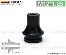 M12X1.25 GT Gear Shift Knob Boot Retainer Adapter For Ford Mustang Black Free Sh