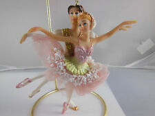 "Ballerina Ballet couple ornament 5"" Resin New"