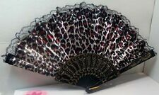 chinese folding hand fan, great for summer outings,  design #6  red leopard
