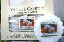 "Box Lot of 24 Yankee Candle ""FIRESIDE TREATS"" Tarts Wax Melts"