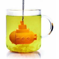 Submarine Tea Strainer Filter  Loose Leaf Herbal Spice Infuser Silicone Spice NJ