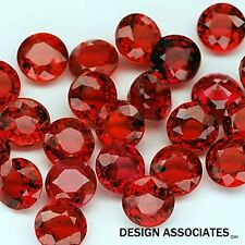 RUBY 5.00 MM ROUND CUT NATURAL GEMSTONE  AAA  1 PC SET