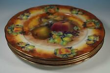 "Raymond Everill Lime House China EVESHAM Fruit 10.25"" Dinner Plates x 4"