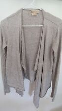 MICHALE KORS GREY SOLID LONG SLEEVE Nylon Blend  CARDIGAN  SIZE  M.