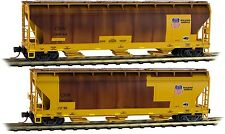 Micro-Trains MTL N-Scale ACF 3-Bay Centerflow Hoppers Union Pacific/UP Weathered