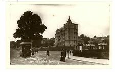 Toquay Devon England -TRAM ON TORBAY ROAD & GRAND HOTEL-RPPC Postcard Trolley