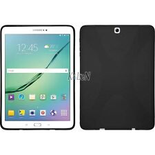 Black X Line TPU Silicon Case Cover Skin For Samsung Galaxy Tab S2 9.7 T810 T815