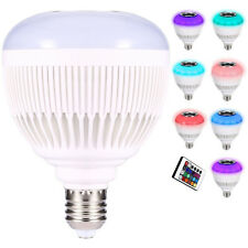 Wireless 12W Power E27 LED RGB Bluetooth Speaker Bulb Light Lamp Music Playing