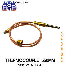 "BRIVIS THERMOCOUPLE 21"" 550mm SCREW-IN TYPE - FOR DUCTED HEATERS"