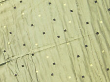 Green woven silk mix upholstery fabric with thick woven backing 54 by 39 inch