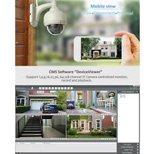 Wireless IP Camera Dome IR Night Vision WiFi IR-Cut Outdoor Security Cam IB
