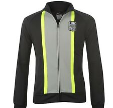 Nike Tiempo Herren Jacke Schwarz Grau Gelb Größe XL Neu mit Etikett