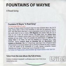 (ED993) Fountains Of Wayne, A Road Song - DJ CD