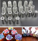 32pcs DIY Russian Tulip Rose Stainless Steel Icing Piping Nozzles Tips Baking