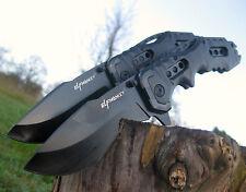 2 unidades las fuerzas cuchillo plegable Black Top jackknife Folding cuchillo de caza k056