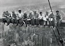 """LUNCH ATOP A SKYSCRAPER laminated POSTER """"CONSTRUCTION WORKERS LUNCHING Licensed"""