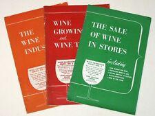 Vintage 1956 WINE HANDBOOK SERIES Set! #1 Industry #2 Growing & Types #3 Sale!