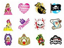 72 CHILDRENS PIRATE & PRINCESS TEMPORARY TATTOOS XMAS BIRTHDAY PARTY BAG FILLERS