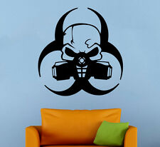 Biohazard Sign Wall Decal Gas Mask Skull Vinyl Sticker Wall Murals Home Decor 8