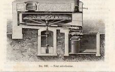 INDUSTRIE FOUR  AEROTHERME BOULANGER IMAGE 1875 INDUSTRY OVEN BAKER OLD PRINT