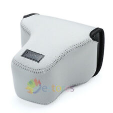 Neoprene Soft Camera Case Pouch Bag for Olympus OMD E-M1 EM1 Camera Grey